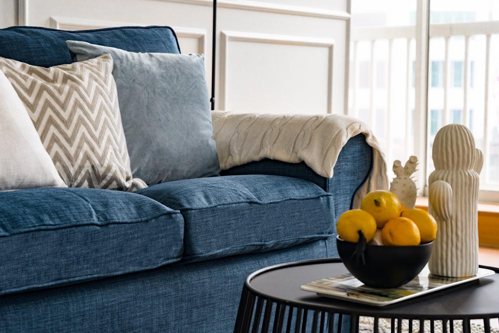 Fundas de sofá Ektorp de IKEA con la tela Kino Denim
