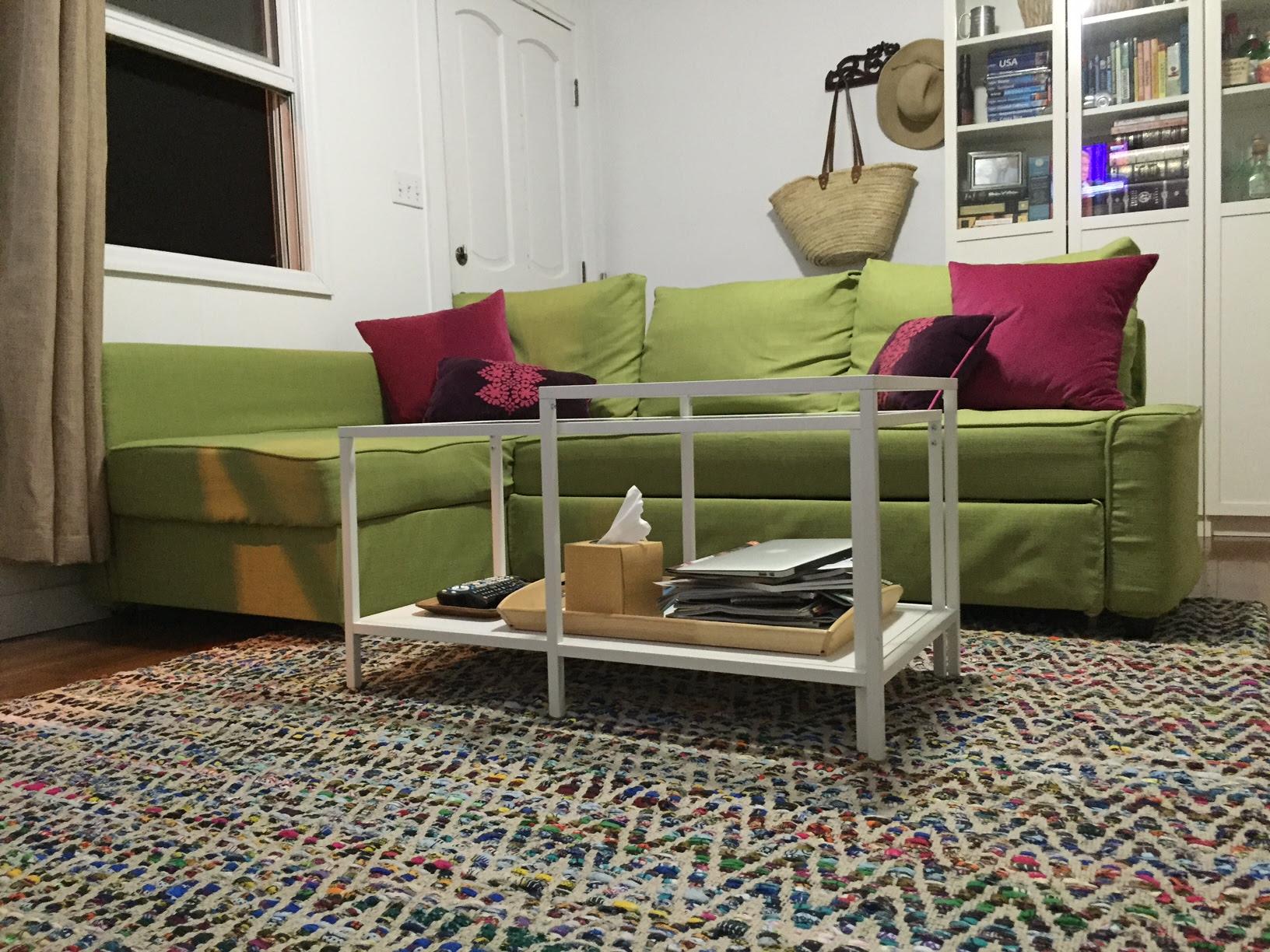 Frihenten Sofa bed Snug fit slipcover in Kino Willow