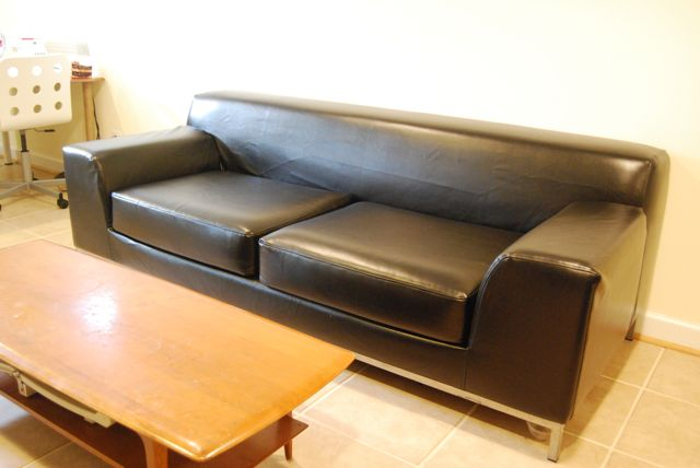 Leather Sofa Cover For A Kramfors By Comfort Works