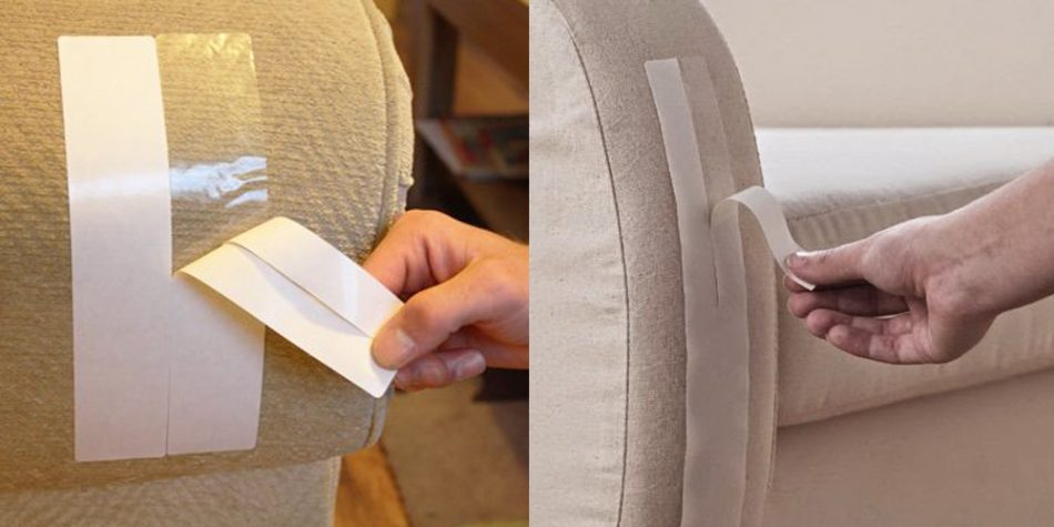 Double Sided Tape to protect your sofa from pets