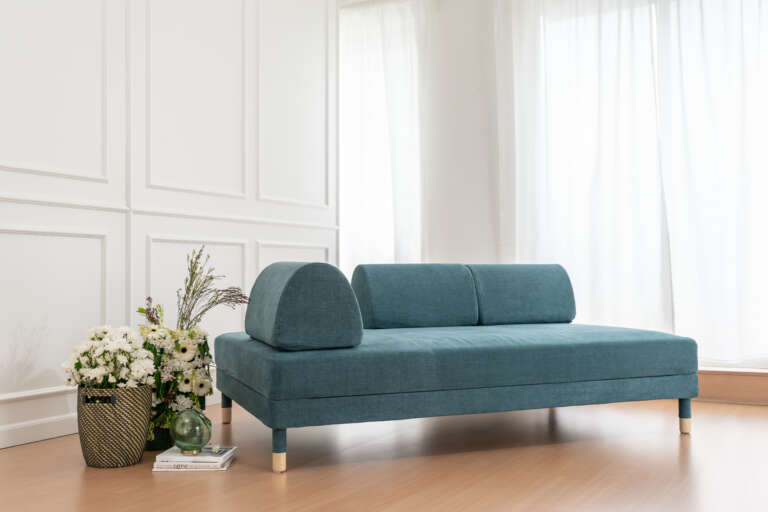 Flottebo Sofa Bed in Comfort Works Madison Teal Cover