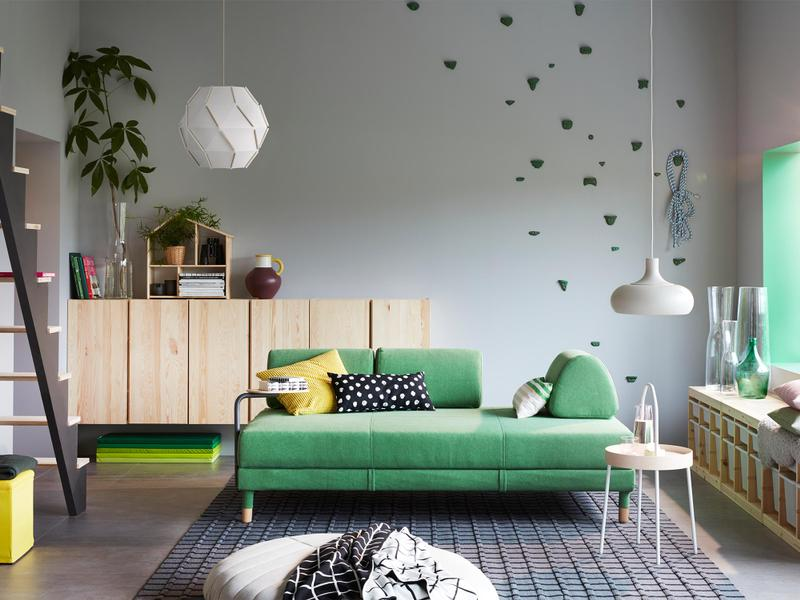Flottebo Sofa bed Lysed Green - Image credit: IKEA