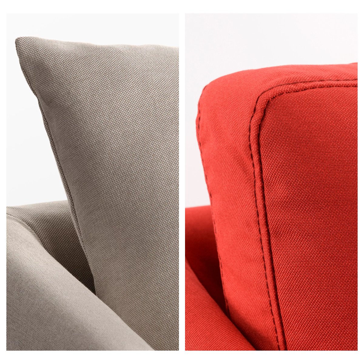 Coussins aux canapé IKEA Sandbacken et canapé IKEA Brathult