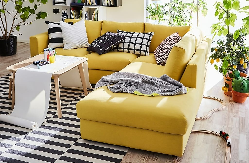 IKEA Vimle ヴィムレソファに新しいカバーをかけて模様替え!