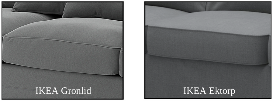 IKEA Gronlid Seat Cushion vs. IKEA Ektorp Seat Cushion