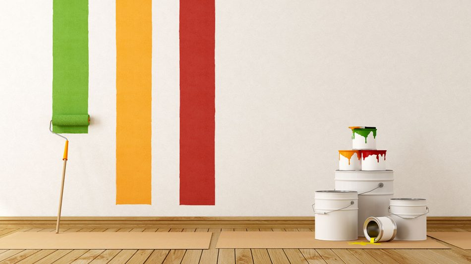 Paint Lines on White Wall