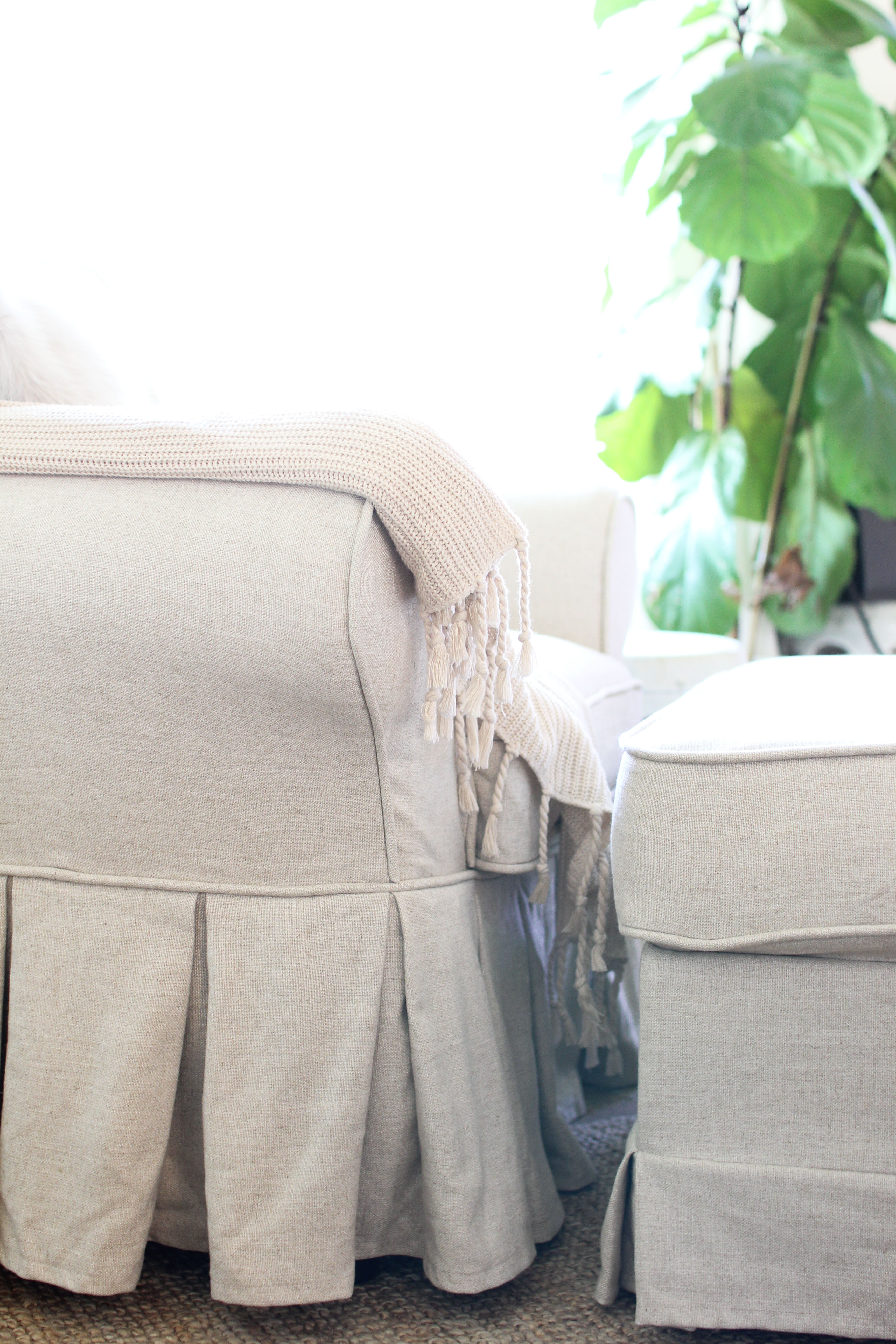 Dining Chair Covers with Pleats Detail