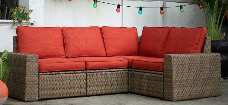 Fundas para cojines rojo anaranjado Comfort Works