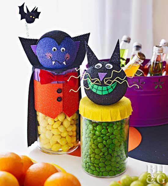 Halloween Decor Ideas - Halloween-themed Candy Dispensers