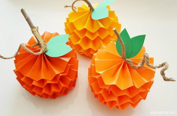 Halloween Decor Ideas - Paper Pumpkins