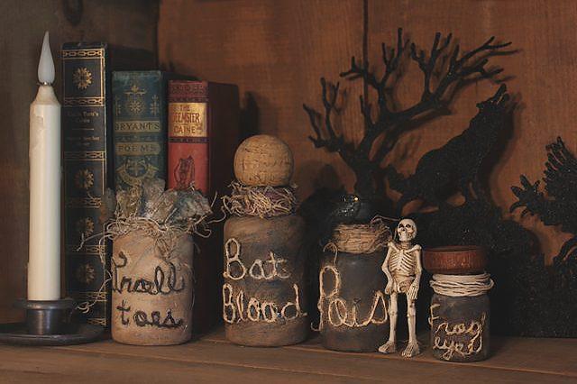 Halloween Decor Ideas - Spooky Potion Vials