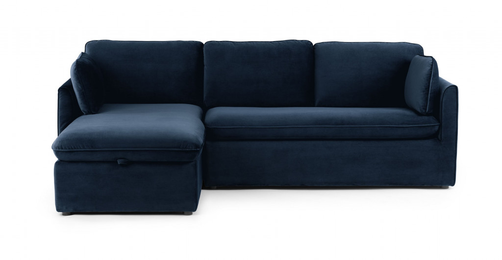 Sectional made from a right arm facing loveseat and a left arm facing chaise