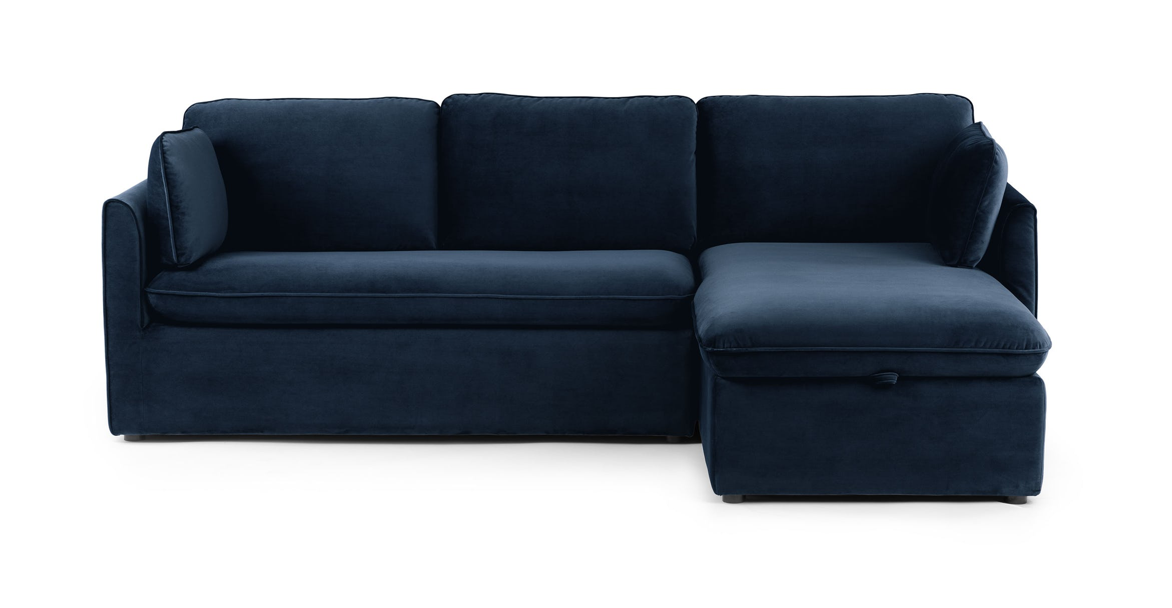 Sectional made from a left facing loveseat and a right facing chaise