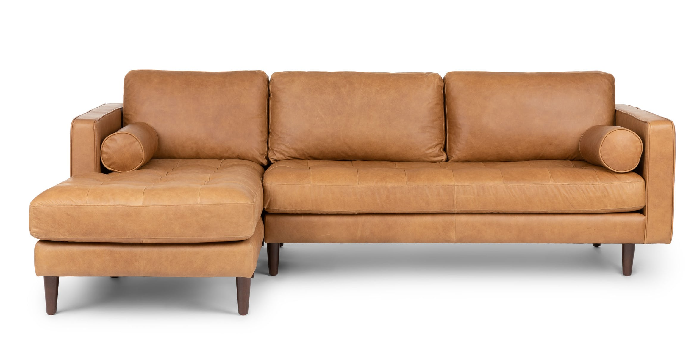 Standard configuration of a three seat sectional. A loveseat and a chaise.