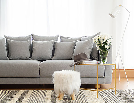 ikea stockholm in Madison Ash Grey sofa cover