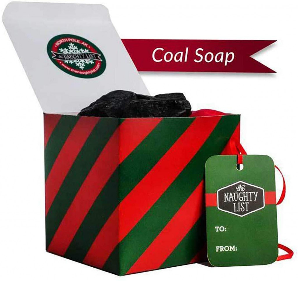 Coal soap for those who are on the naughty list