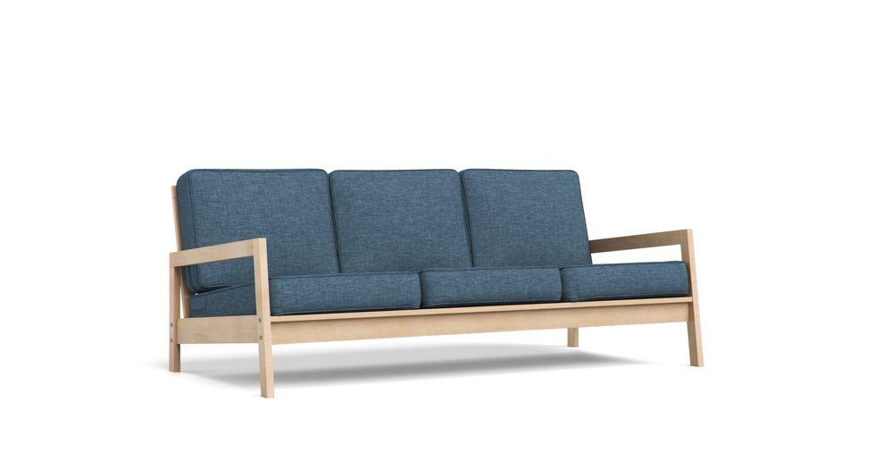 IKEAの廃盤モデルLillbergはいまも愛用されている方の多い人気木製フレームソファ。廃盤モデルですが、コンフォートワークスではソファカバーをお作りしています。