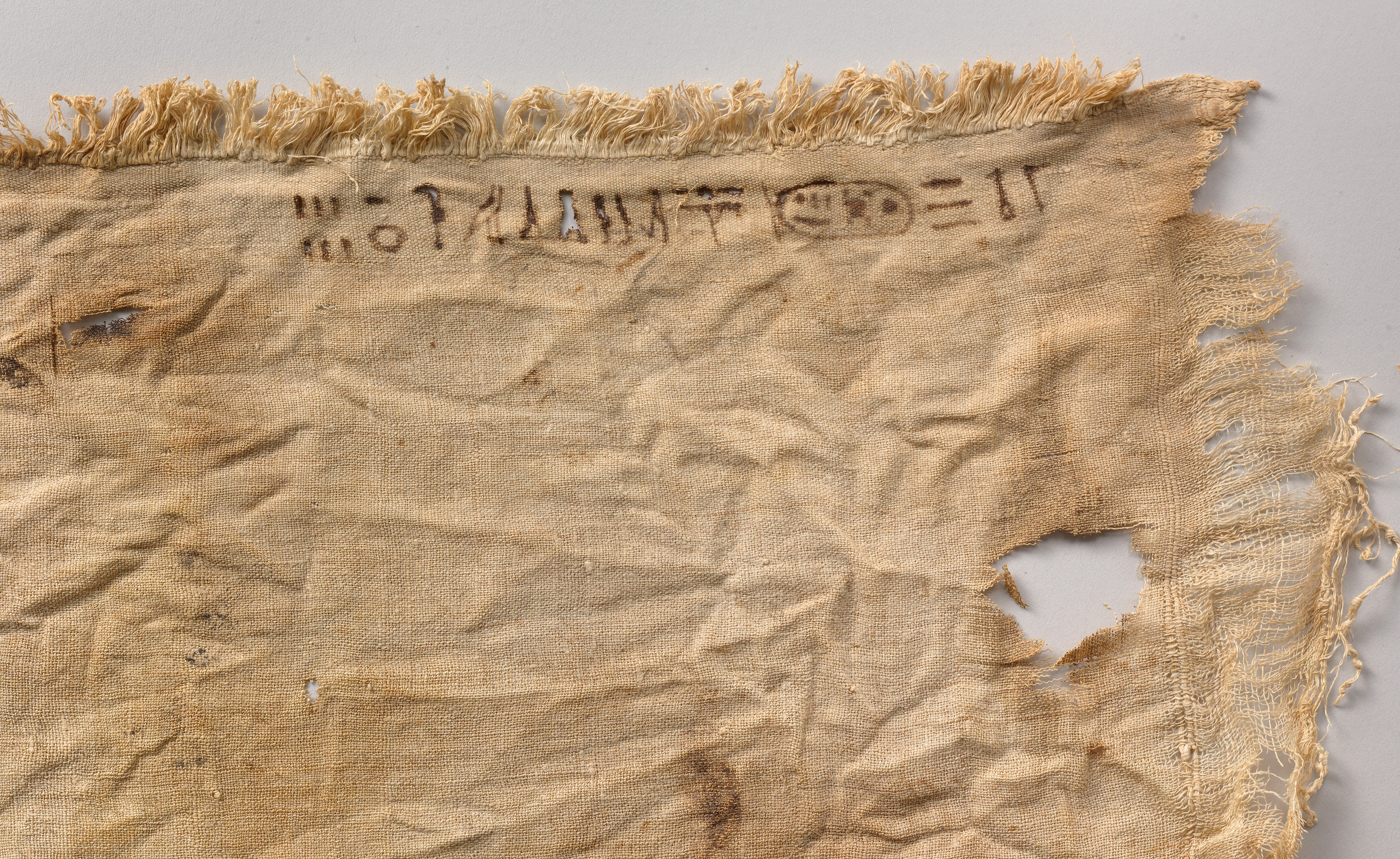 ancient linen from the Egyptian tombs