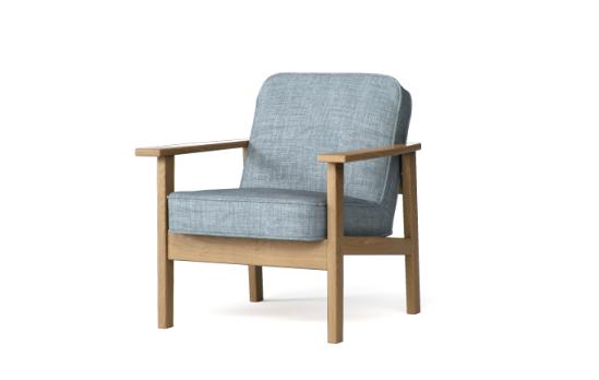 無印良品のタモ材ソファはタモ無垢材が使用されているあたたかみのある木製フレームソファです。コンフォートワークズでは豊富な生地でソファカバーをお作りします。