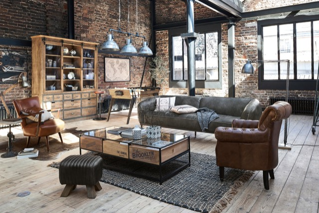 industrial living rooms are unique and bares all in a work meets home aesthetic