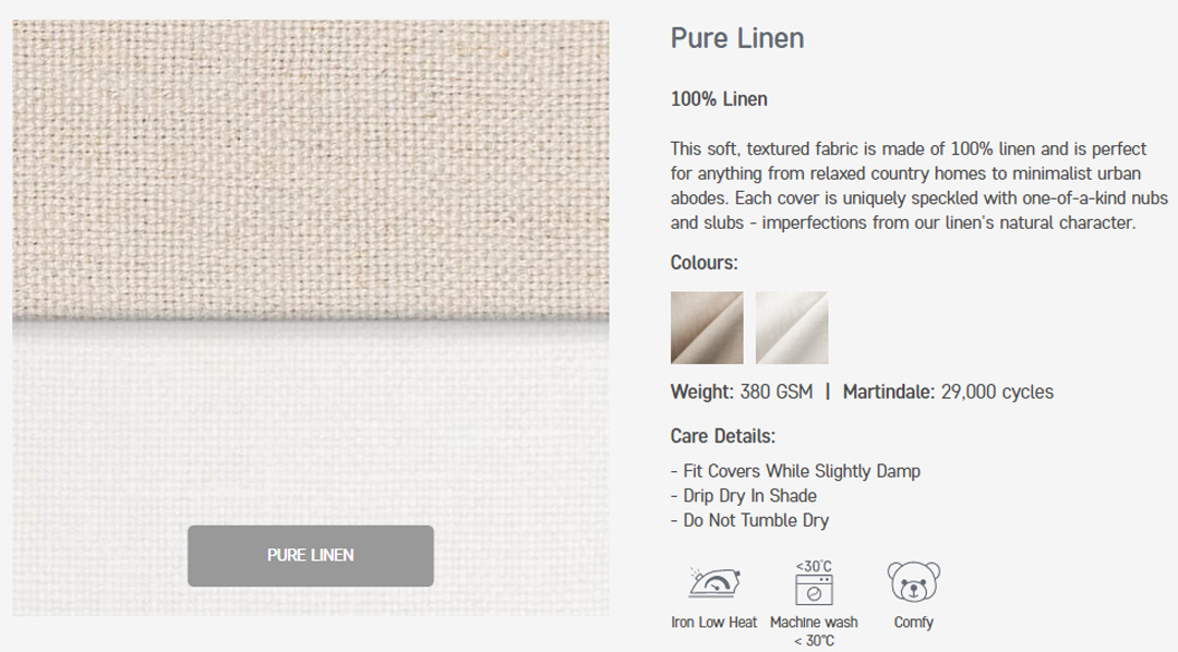 how to take care of your linen sofa