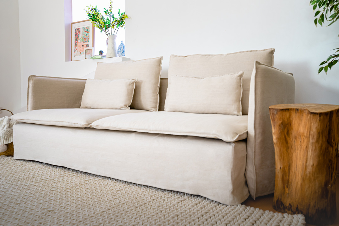 IKEA Soderhamn linen sofa