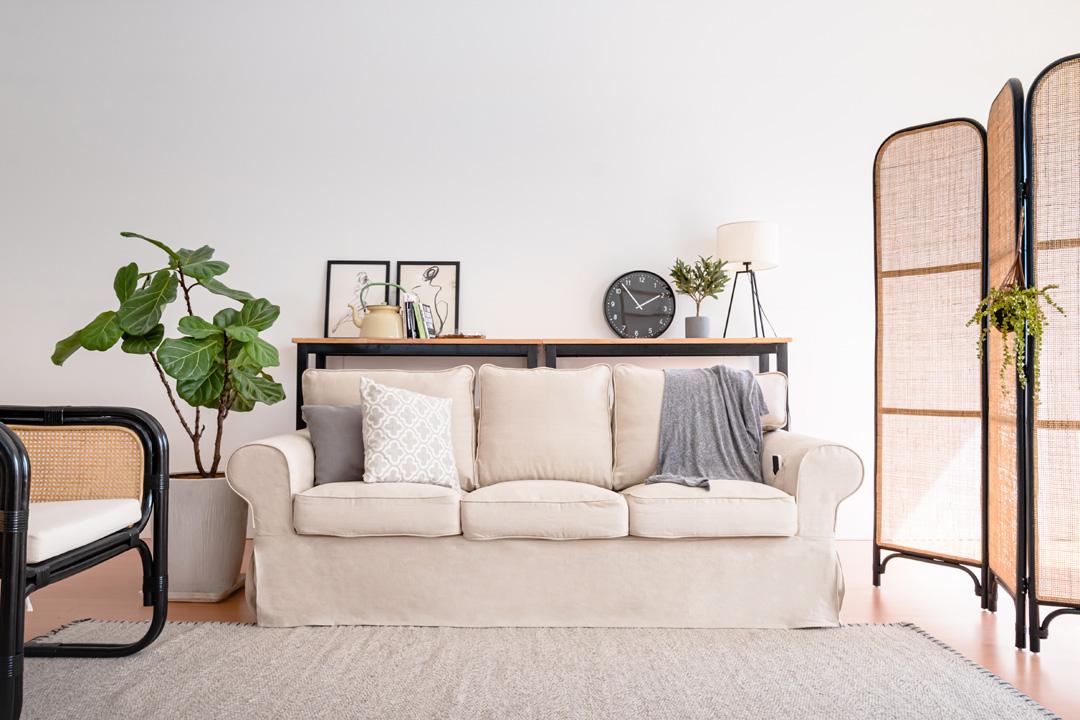 linen ektorp sofa