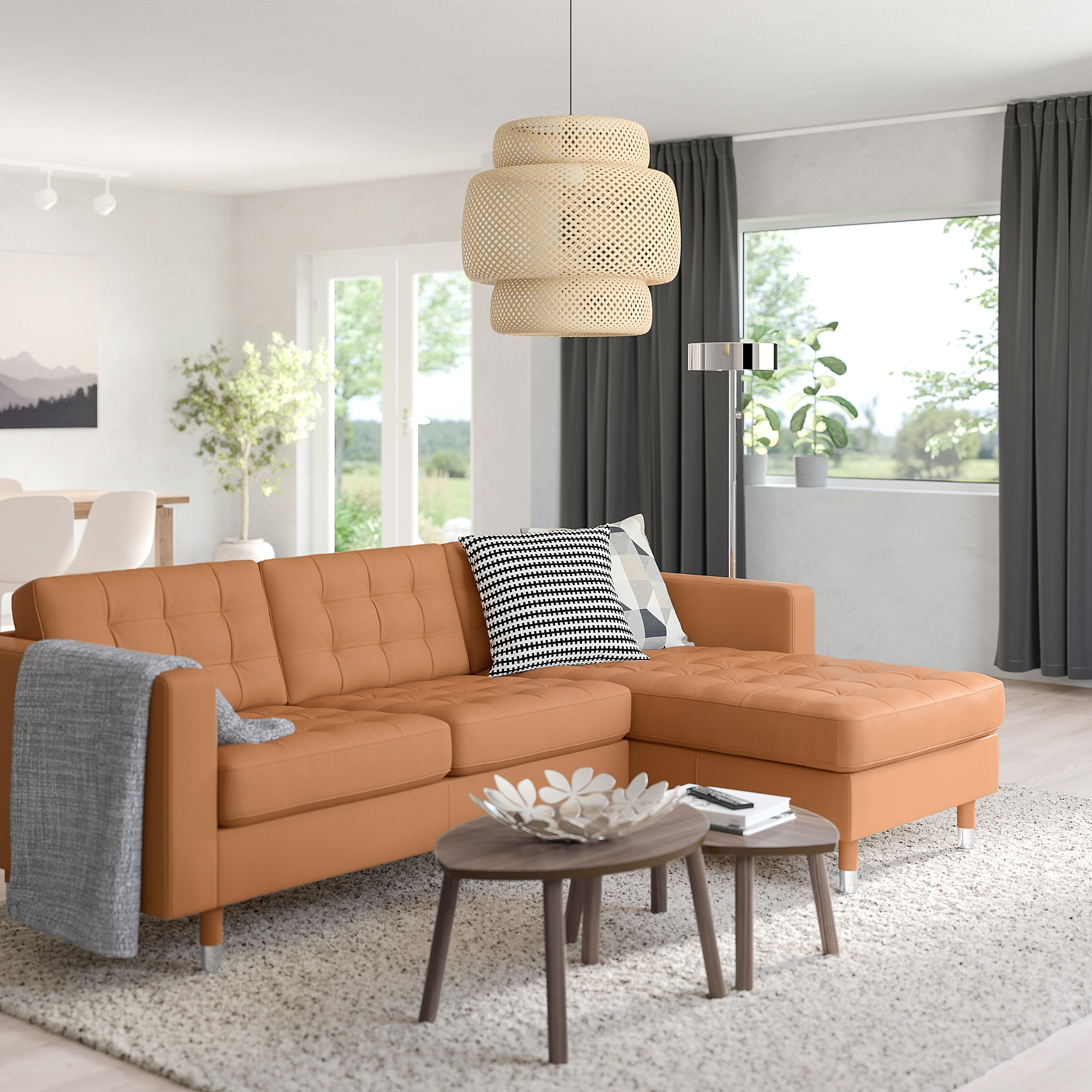 The IKEA Morabo in golden brown leather