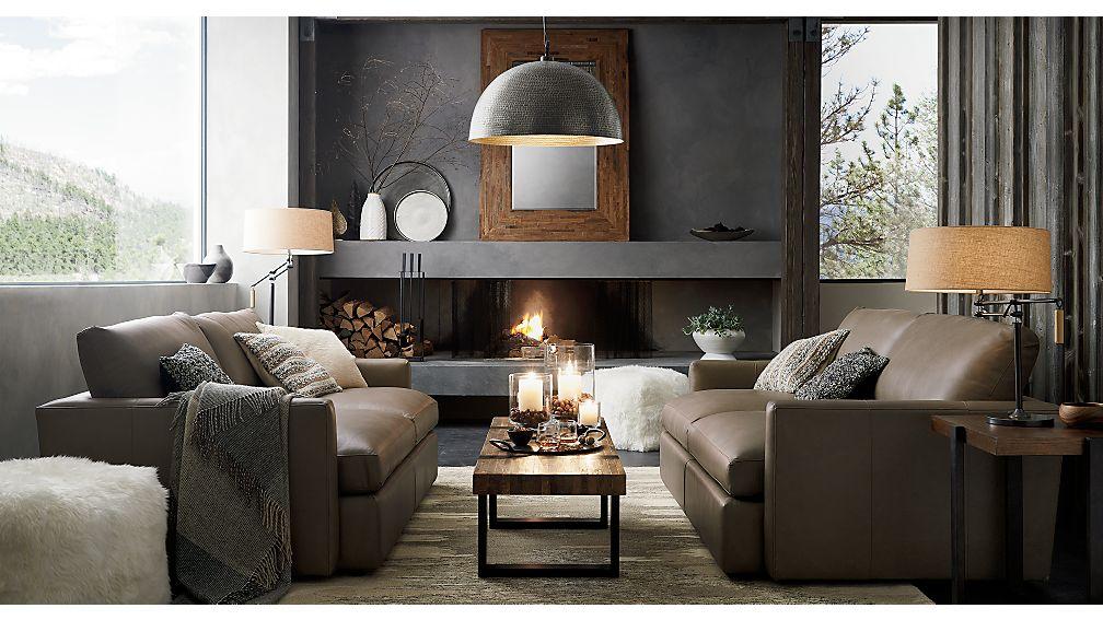 Lounge II sofa upholstered in Lavista Smoke Leather