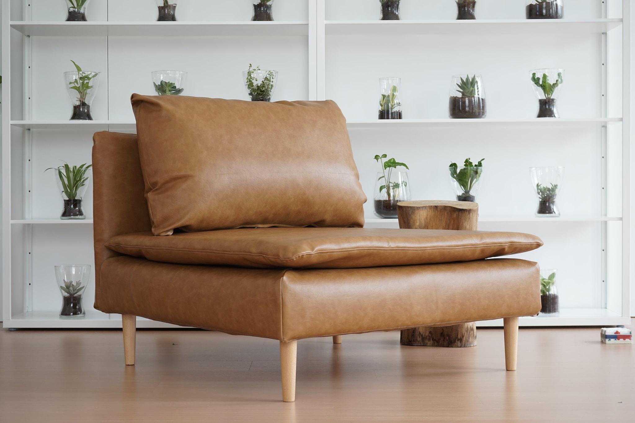 IKEA Soderhamn module slipcovered in leather sofa covers