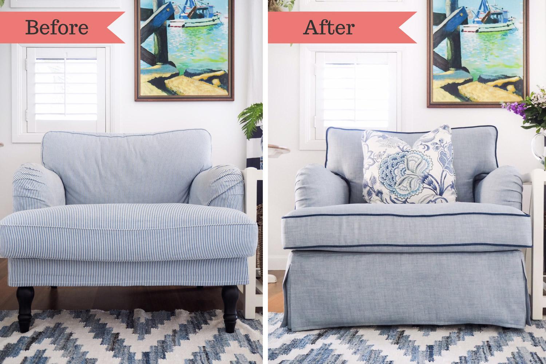 クッションのへたりも新品のソファカバーをつけることで改善することができます。