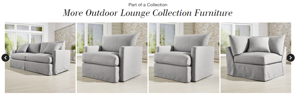 Many optional modules make the Lounge II petite the best slipcovered sectional sofa