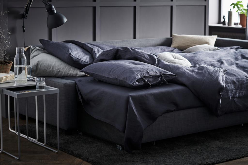 IKEAのフリーヘーテンコーナーソファベッドは硬めの座面で、ソファとしてもベッドとしても心地よく快適さは抜群。