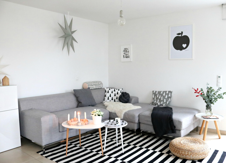 Interior Kombination Sofa in Grau als Akzent