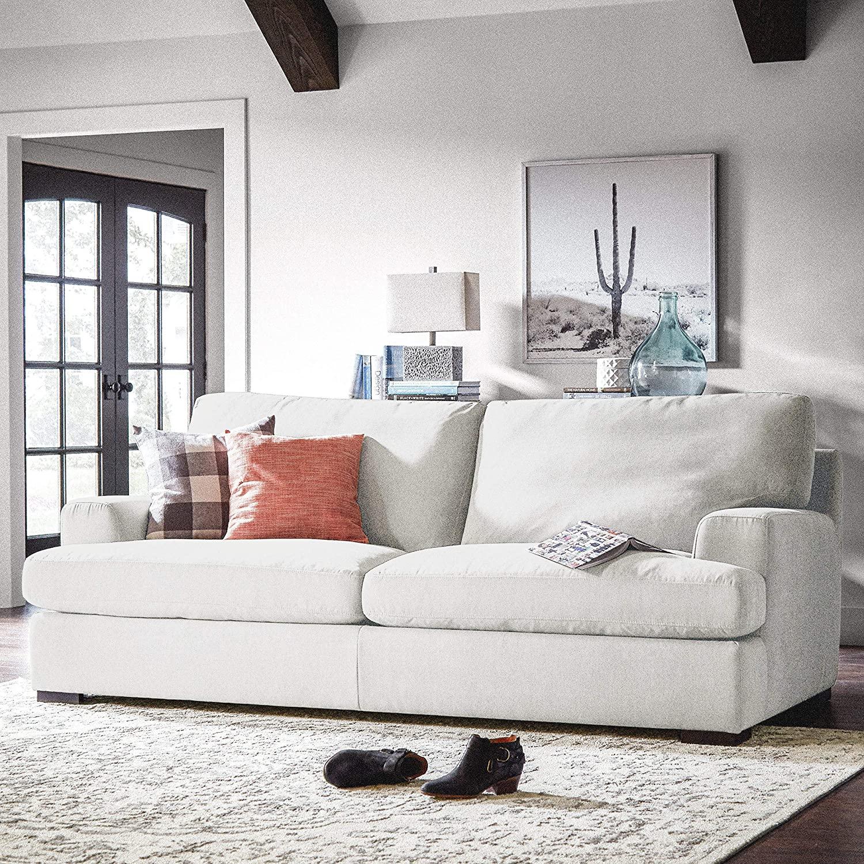 Contemporary square armed Lauren sofa