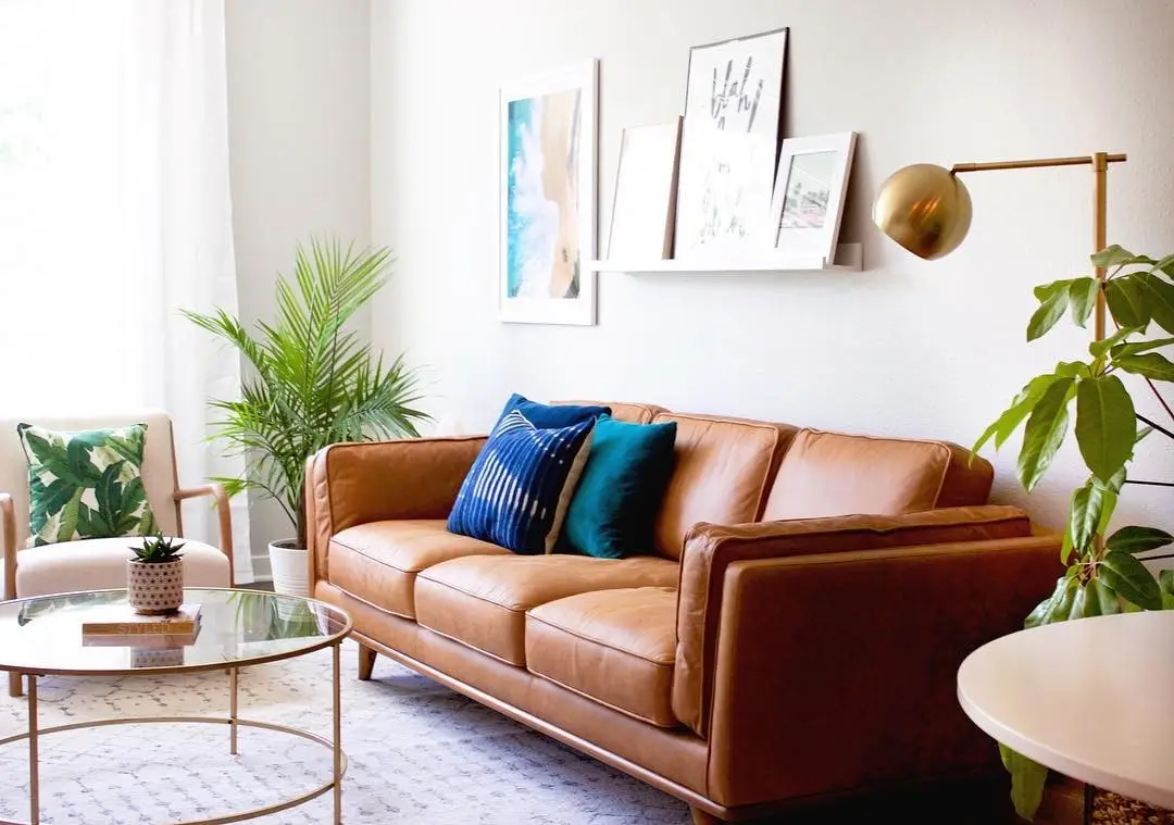 gorgeous, cheap leather sofa under $2000