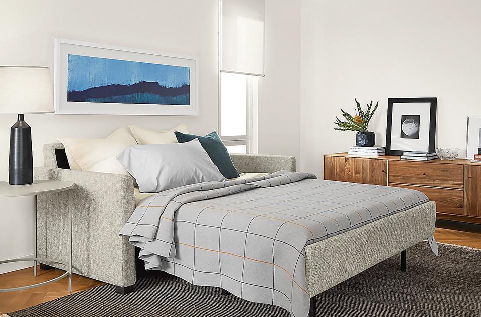 small sleeper sofa with full sized mattress