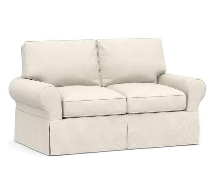 incredibly tiny round arm sofa