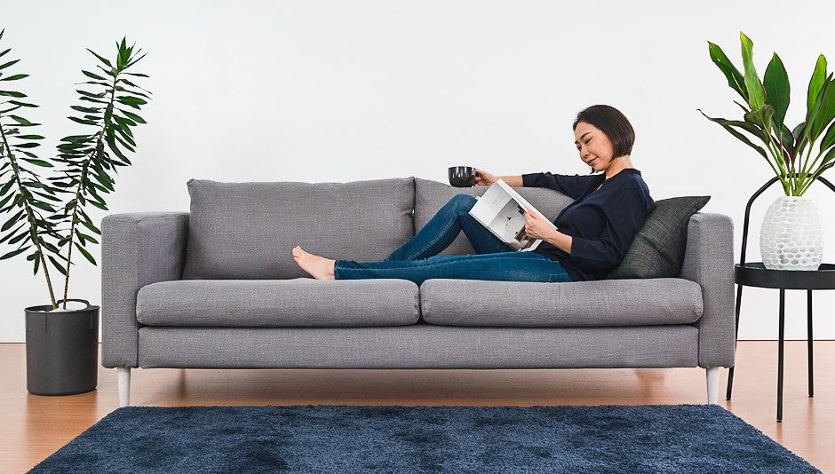 an everyday couch you can buy affordably at IKEA