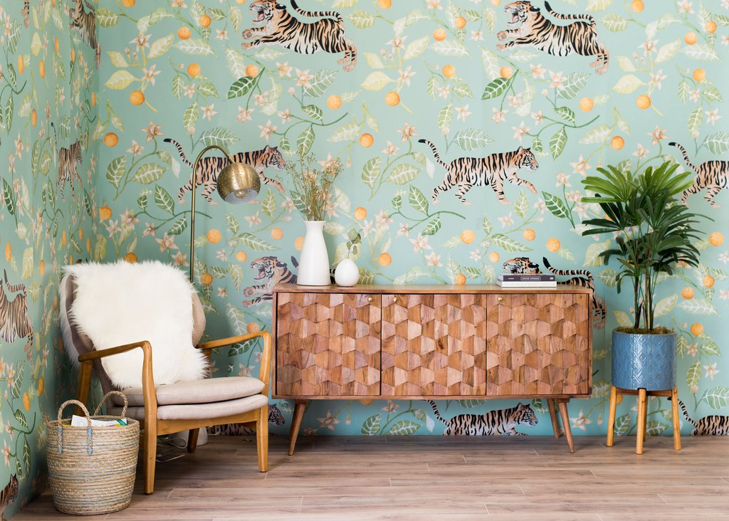 Slap up some wallpaper and bring Spring inside