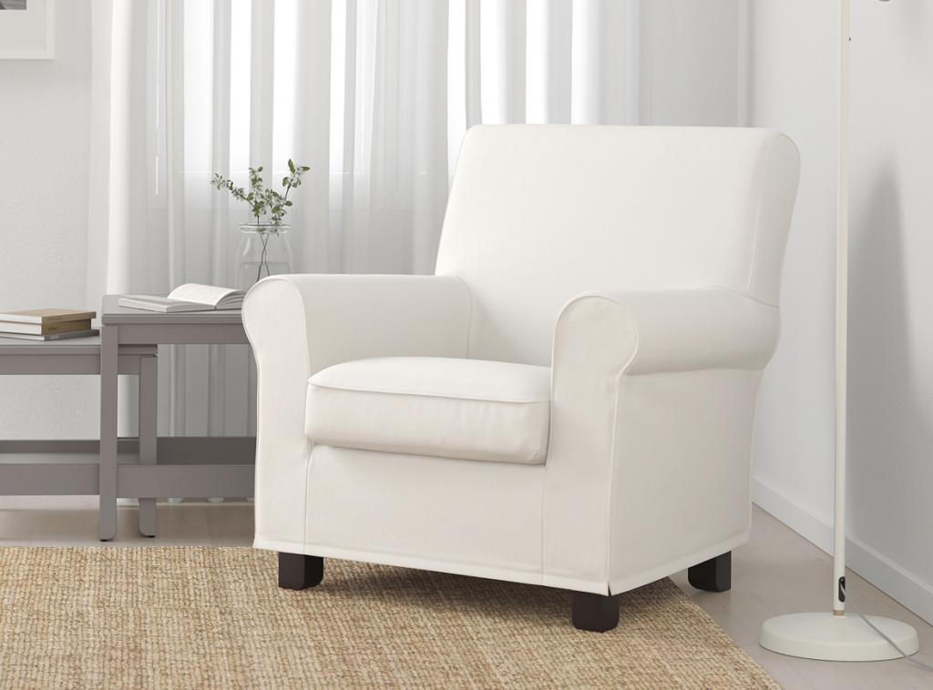 定番の形のグローンリードアームチェアは見た目も座り心地も安定感が魅力です。