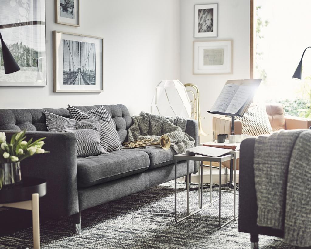 IKEAで人気のソファ10選!上質な空気感を演出するLandskrona/ランズクローナソファは堂々とリビングの主役になるアイテムです。