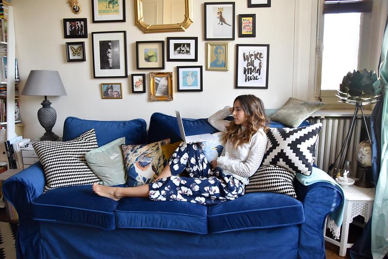 Luxurious-looking-uppland-sofa-sporting-blue-velvet-sofa-covers