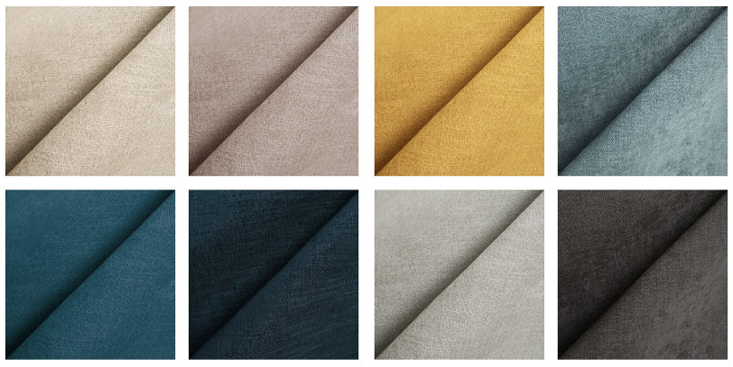different colors of our performance fabric