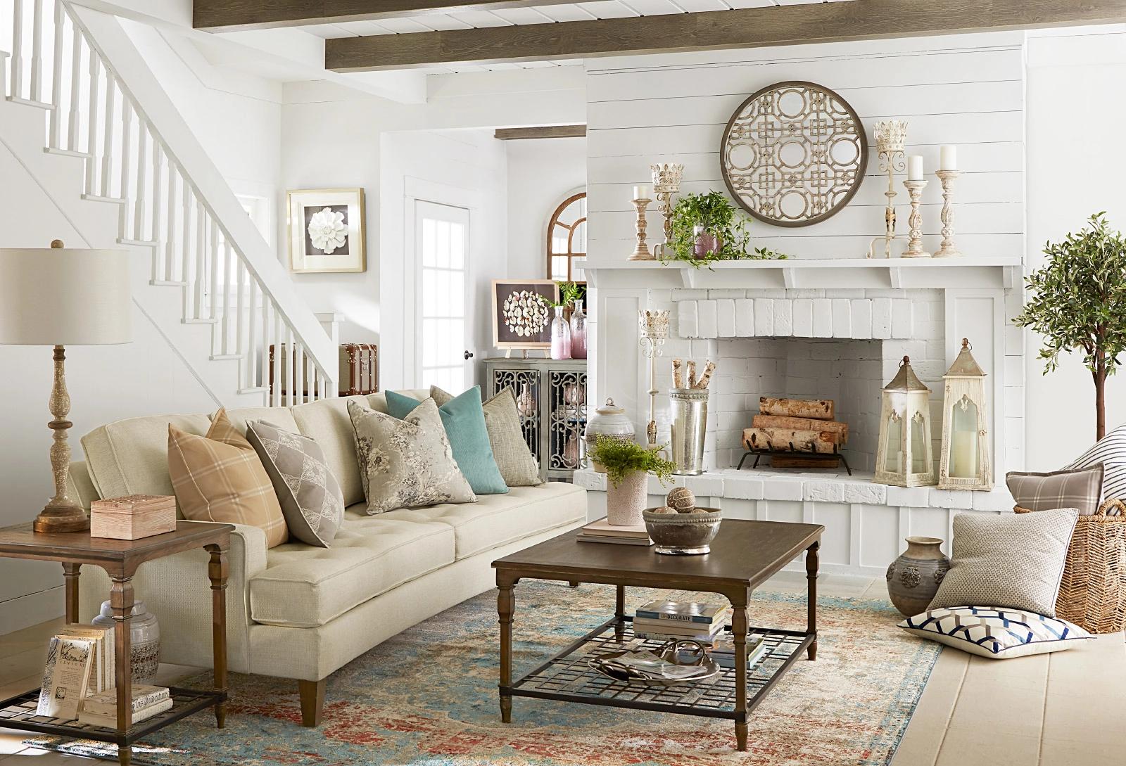 Gianna sofa in French farmhouse living room