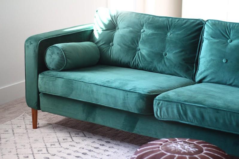 Green Karlstad with custom legs