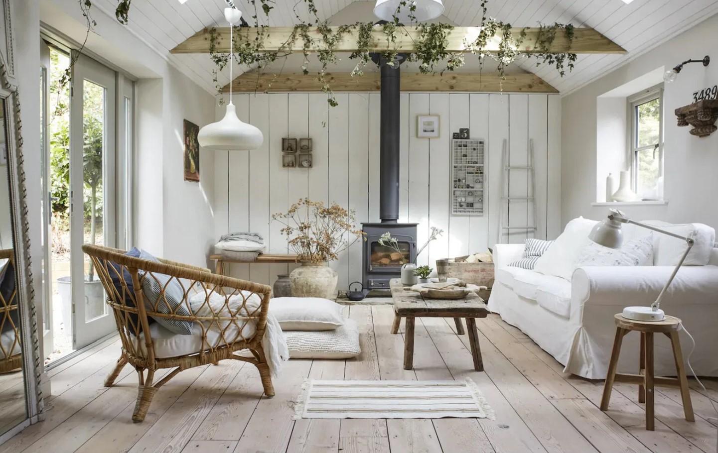 Ektorp sofa in a rustic inspired living room