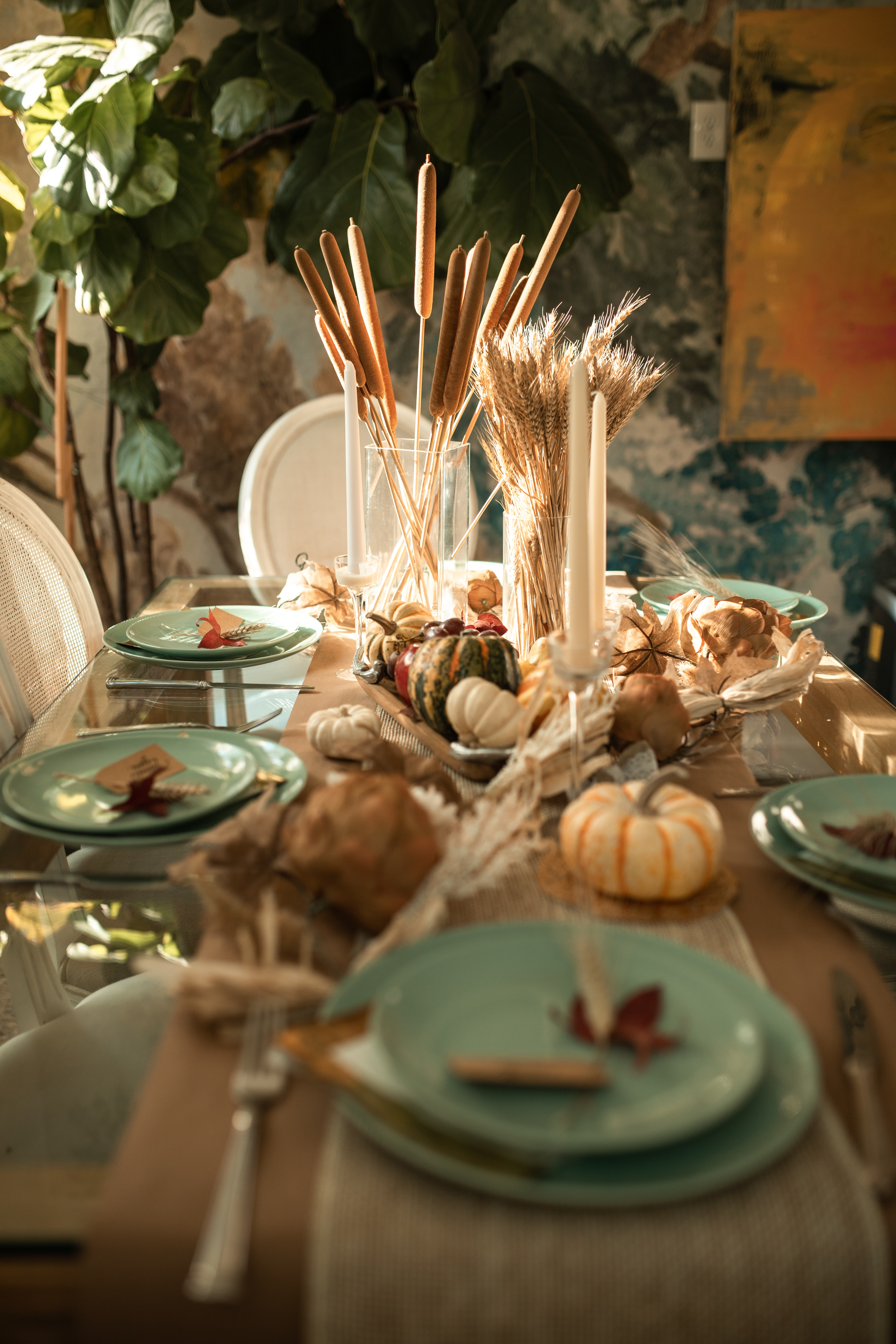 Fall dining table setup