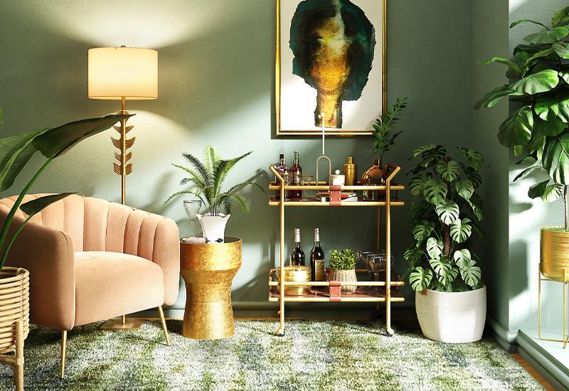 Pflanzen in einem Modern Boho Zimmer