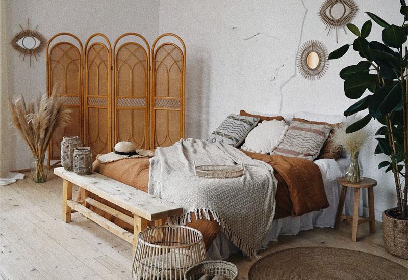 Schlafzimmer im Modern Bohemien Einrichtungsstil